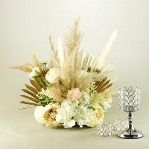 Teelichthalter Teelicht Halter Kristall Crystal Vinci in gold und silber für Hochzeit leihen als Hochzeitsdeko 1