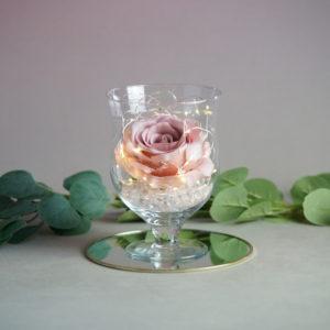 Tisch vase und Ständer für Blumen und Kerzen für Hochzeit leihen und mieten Dekorations Verleih günstig 1