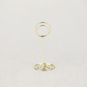 Tischnummer Halter Ständer für Tischnummer Tischdeko leihen und mieten Hochzeitdeko Verleih Spirale 1