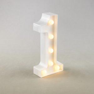 Tischnummer Vintage LED Lampen Beleuchtet leihen und mieten Hochzeit 2
