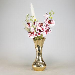 Vase Gold für Blumen Blumenvase Orient orientalisch für Hochzeit mieten 1
