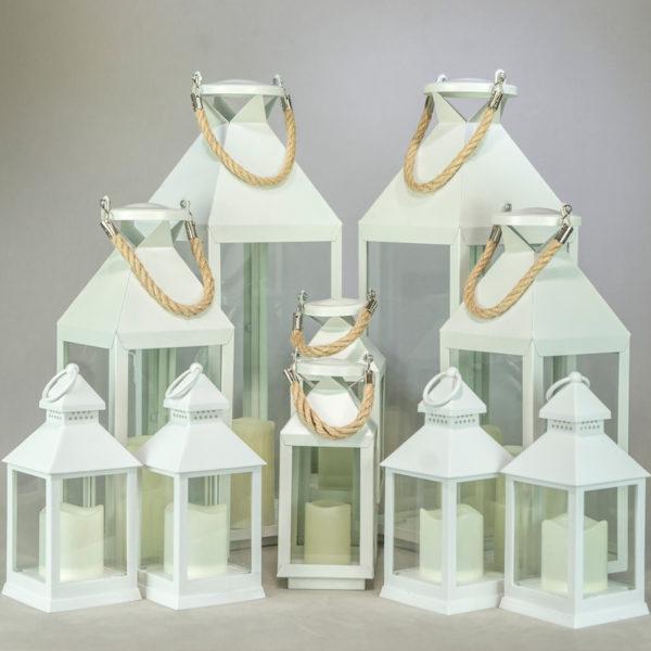 Windlicht Laternen Set Dana für Hochzeit windlichter mieten und laternen leihen in weiss