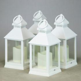Windlicht Set Luxar weiß stumpkerzen als Hochzeitsdeko mieten frankfurt