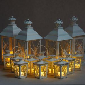 Windlicht Windlichter Laternen Child in weiß für hochzeit und Event mieten und leihen deko 1