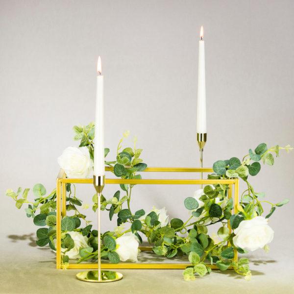 cubos cubos in gold für hochzeitsdeko greenery boho chic geo geometrisch mieten dekorations verleih