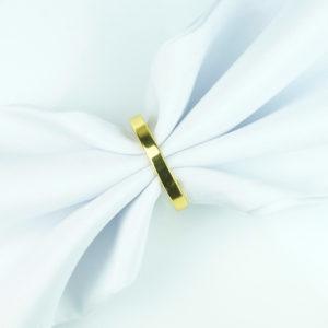 serviettenring elecange ring für servietten aus gold mieten und verleih für hochzeitsdeko
