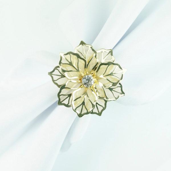 serviettenring für stoff servietten ring als blume in gold mieten für hochzeit