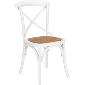 crossback cross back stuhl stühle holz weiss boho bohemian outdoor hochzeit mieten deko leihen dekoration
