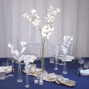 BlauShisha- Tischdeko für Hochzeit leihen Tisch Dekoration mieten als Set verleih