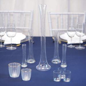 BlauShishaSet- Tischdeko für Hochzeit leihen Tisch Dekoration mieten als Set verleih
