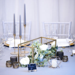 Edel1- Tischdeko für Hochzeit leihen Tisch Dekoration mieten als Set verleih
