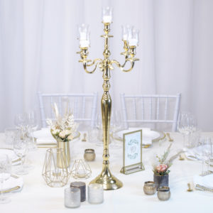 Gold1- Tischdeko für Hochzeit leihen Tisch Dekoration mieten als Set verleih