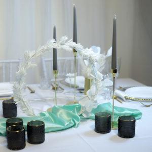 Grey- Tischdeko für Hochzeit leihen Tisch Dekoration mieten als Set verleih