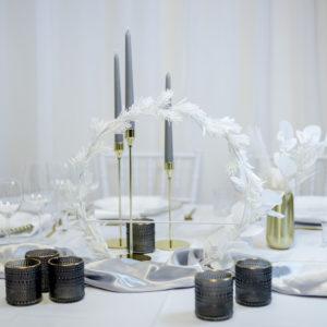 Grey2- Tischdeko für Hochzeit leihen Tisch Dekoration mieten als Set verleih