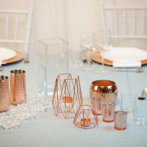 RosSet- Tischdeko für Hochzeit leihen Tisch Dekoration mieten als Set verleih