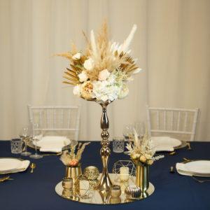 Shine- Tischdeko für Hochzeit leihen Tisch Dekoration mieten als Set verleih