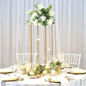 Tischdeko Tischdekoration Set für Hochzeit mieten Avenue Cubos Dekoverleih Gold Frankfurt