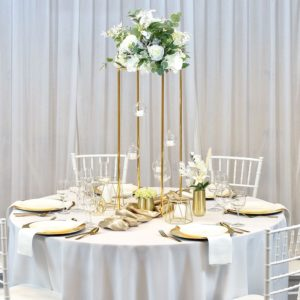 Tischdeko Tischdekoration Set für Hochzeit mieten Avenue Cubos Dekoverleih Gold Rhein main