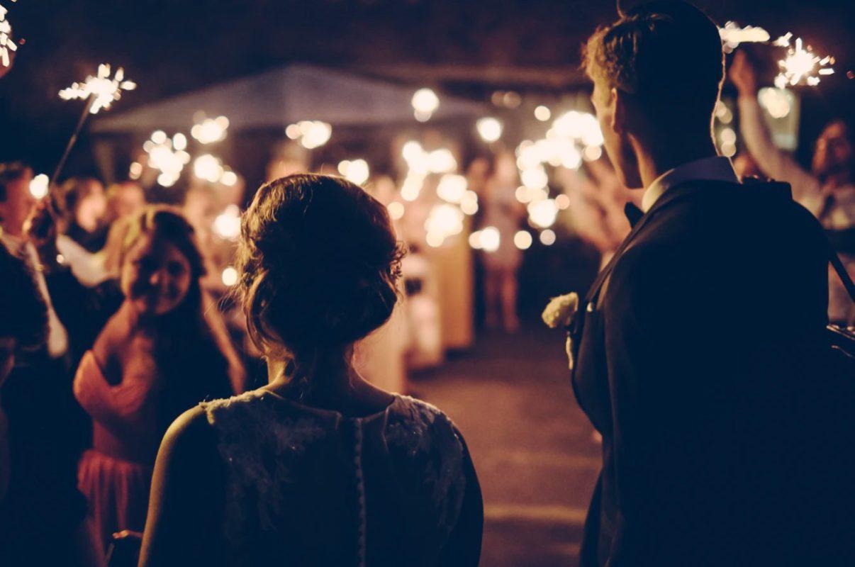 Geldspiele auf einer Hochzeit