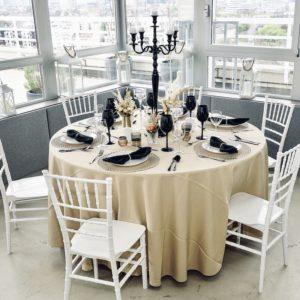 Barelly Tischdeko Tischdekoration Set für Hochzeit mieten Avenue Cubos Dekoverleih Gold 2