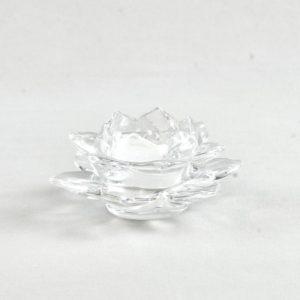 Teelichtglas Teelicht Halter Glas Lotus mieten dekoverleih mietshop hochzeitsdeko 2