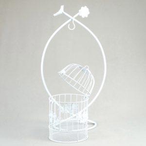 Vogelkäfig geschenke box kartenbox für Hochzeit vintage mieten leihen rhein main1